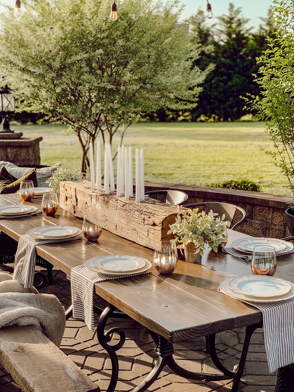 diy rustic centerpiece, patio refresh, one room challenge, better homes and gardens, the simple farmhouse, simple farmhouse decor, outdoor dining space