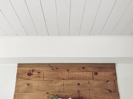 Shiplap Ceiling |  $100 diy projects
