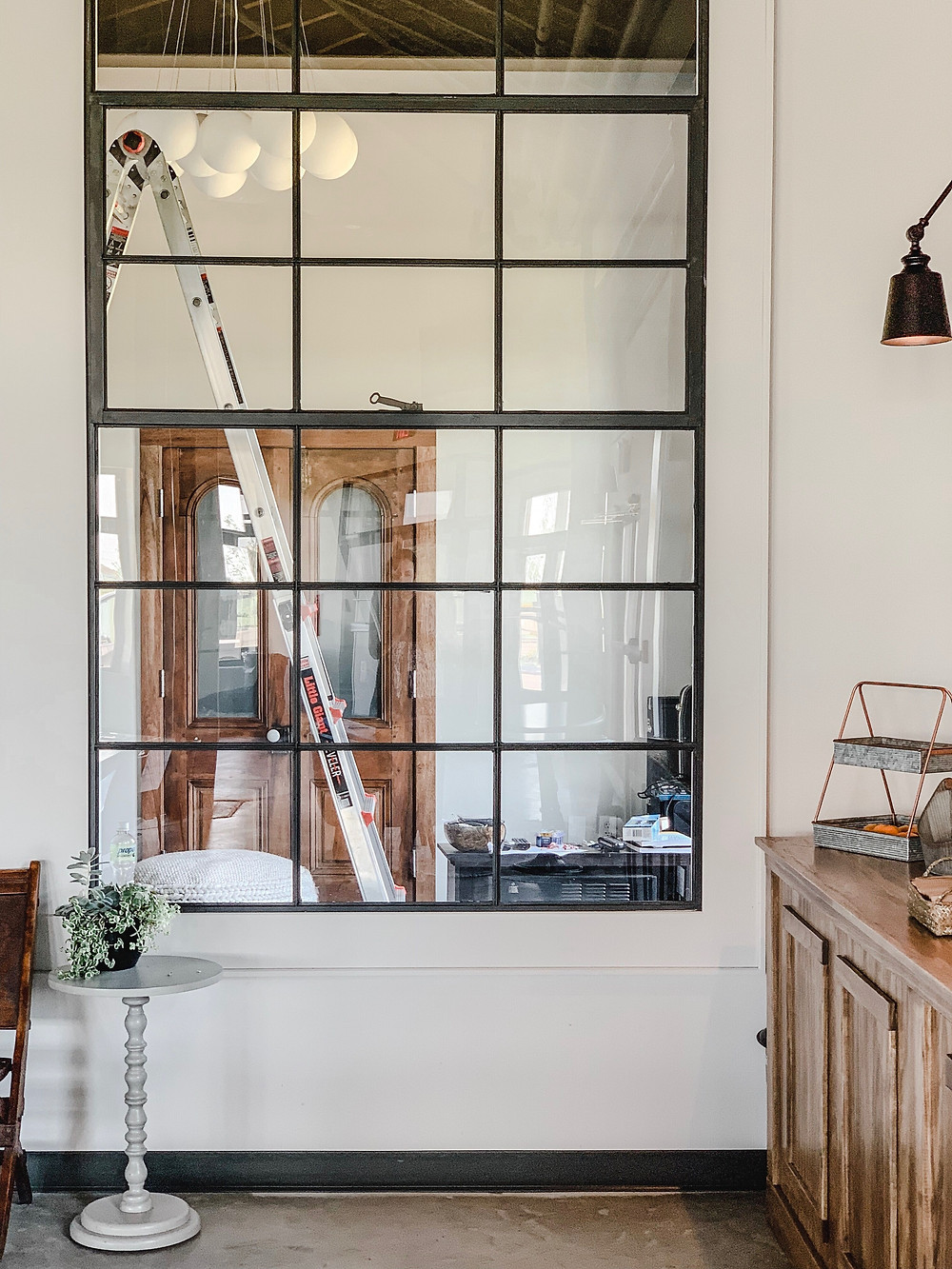 industrial chic, office makeover, the simple farmhouse, simple farmhouse, the town church delaware