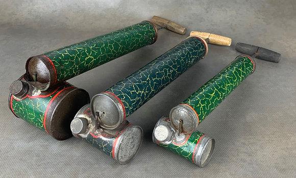 MARQUE INCONNUE motifs craquelures vert&rouge - France (1930's)