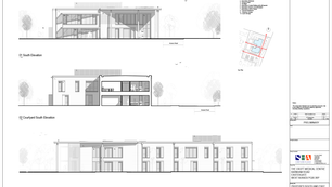 Proposed South & East Elevations