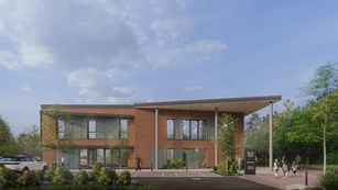 Artists impression of the front entrance