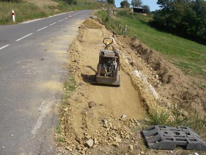 Confortement de taConfortement de talus en contrebas d'une route départementale de la Loirelus au alentour de Bou