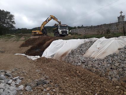 Terrassement de plateforme pour la création d'un centre de secours du SDIS de la Loire à Pélussin