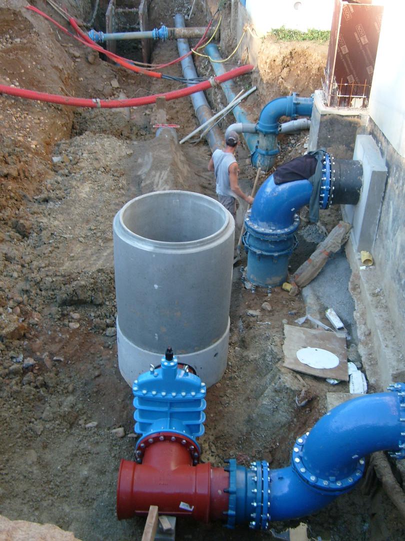 Adduction d'eau potable à Roussillon