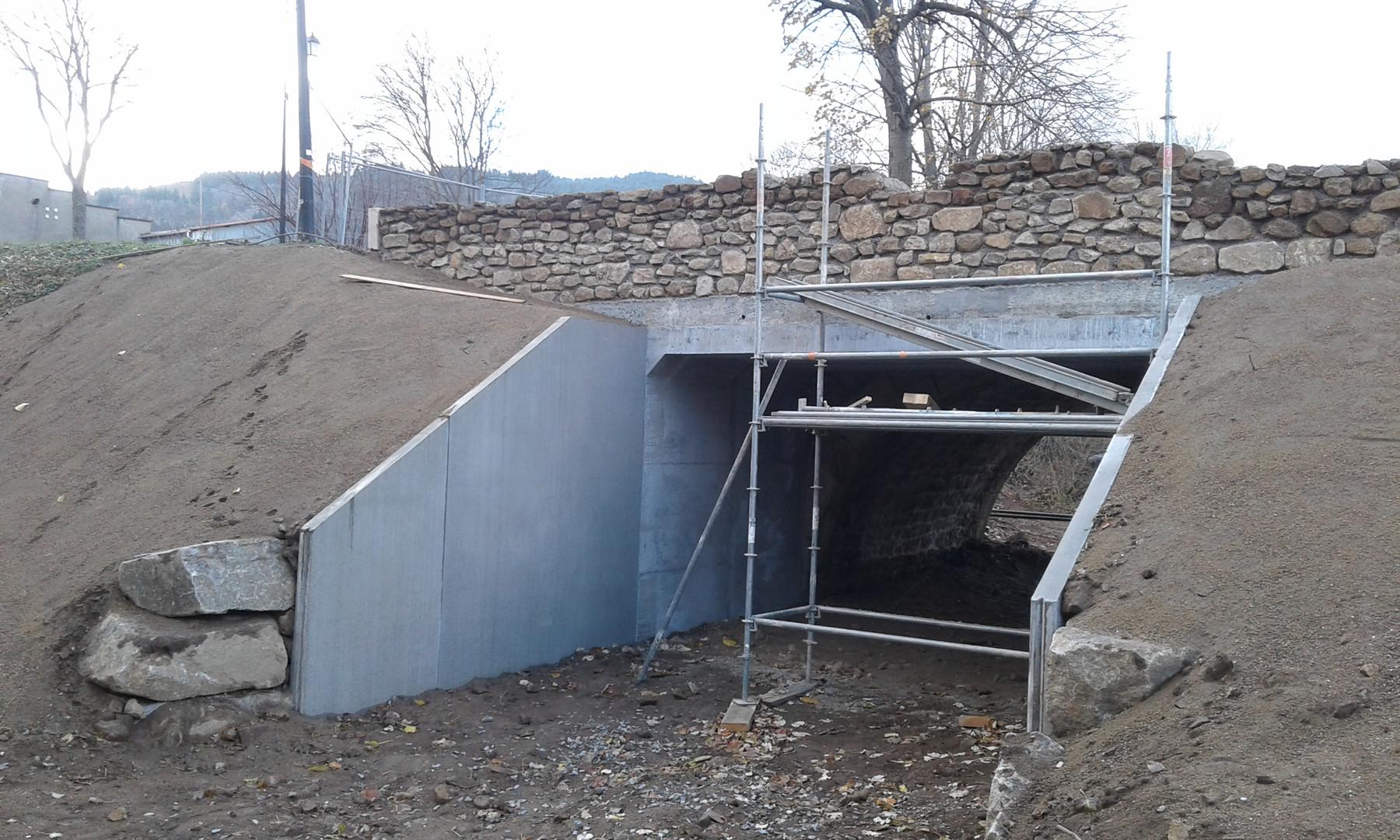 Réparation et élargissement du Pont Sagnemorte à ROISEY
