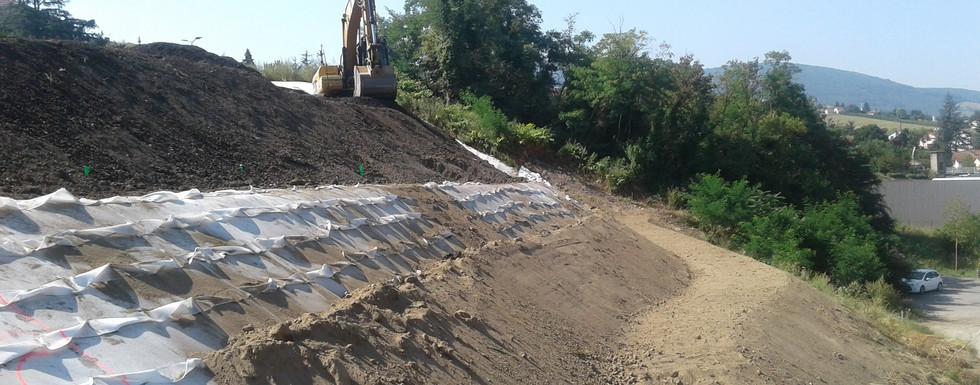 Traitement des terres polluées sur le site de Novacierie à St Chamond