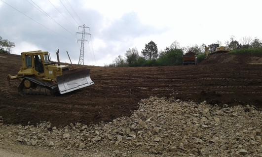 Terrassement en terrain viticole à Condrieu