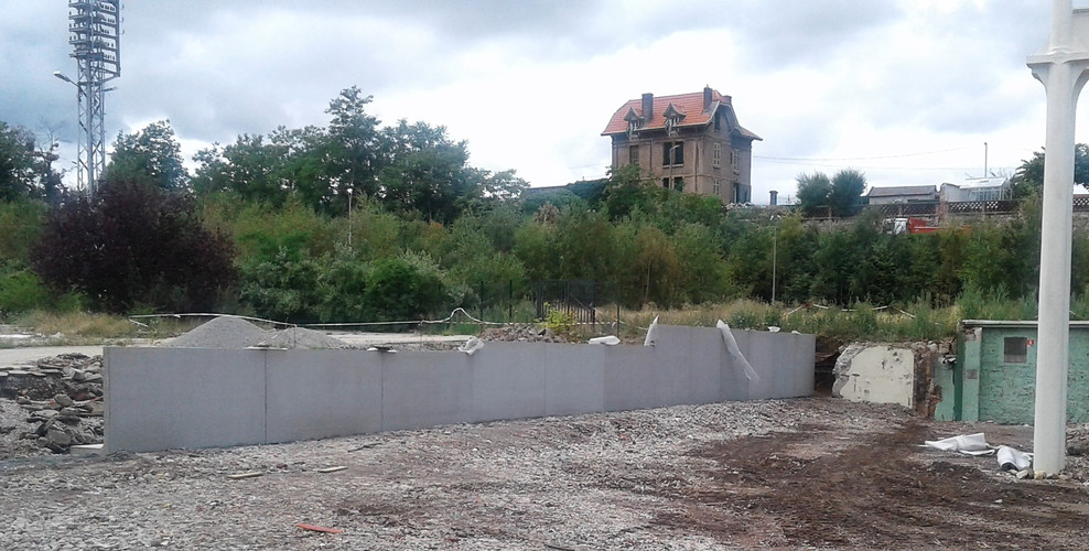 Mur de soutènement en L à St Chamond