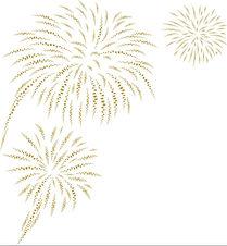 gold-fireworks-on-white-background-vecto