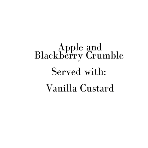 Apple and BlackBerry Crumble (Sunday)