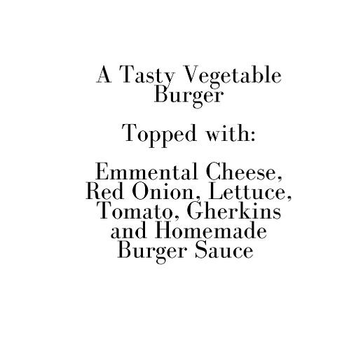 The Ultimate Vegetable Burger (Christmas Eve)
