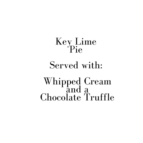 Key Lime Pie (Christmas Eve)
