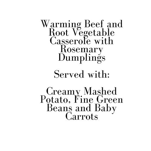 Adult's Warming Beef Casserole (Sunday)