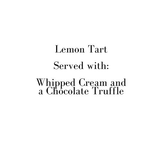 Lemon Tart (Sunday)