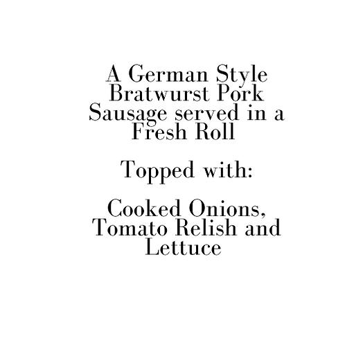 German Style Bratwurst (New Year's Eve)