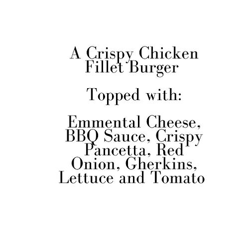 BBQ Chicken Burger (Christmas Eve)