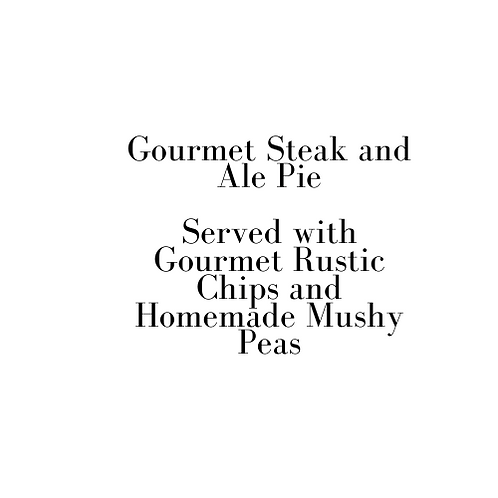 Gourmet Steak and Ale Pie (Friday)