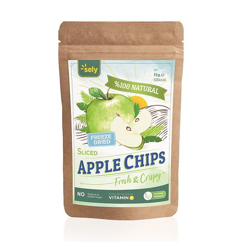 Sely Freeze Dried  Apple Slices 15 gr