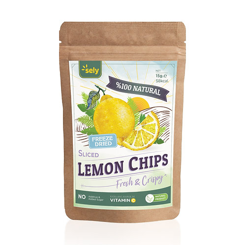 Sely Freeze Dried  Lemon Slices 15 gr