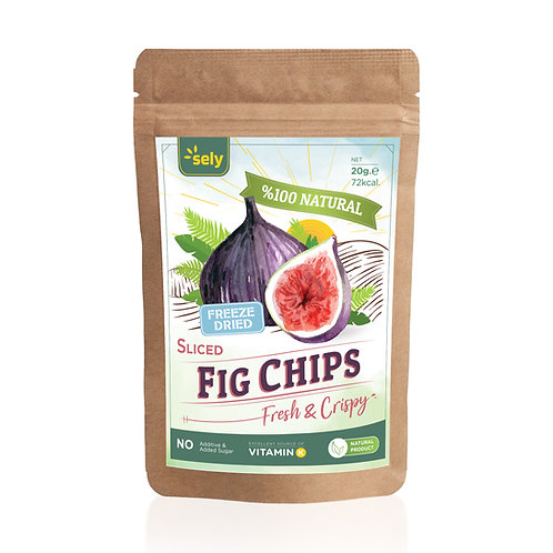 Sely Freeze Dried  Fig Slices 20 gr