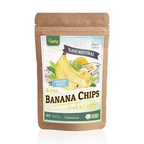 Sely Freeze Dried  Banana Powder 20 gr