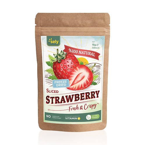 Sely Freeze Dried  Strawberry Slices 15 gr