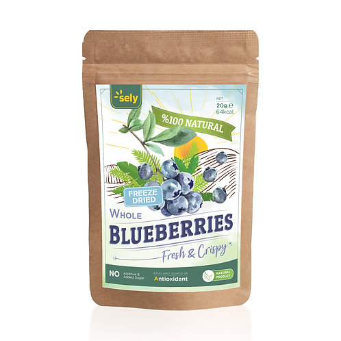 Sely Freeze Dried  Blueberries 20 gr