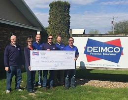 Deimco Donates $5,000 to Trails Inc.