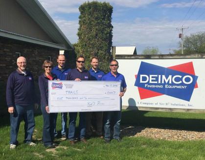 Deimco Donates to Trails Inc.