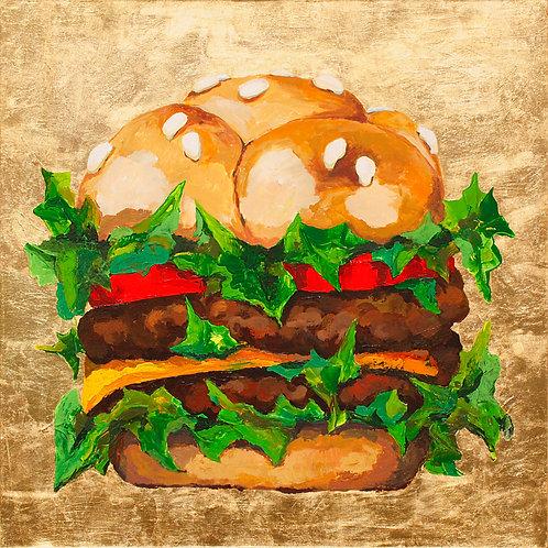 """Burger (100x100cm / 39.4x39.4"""")"""