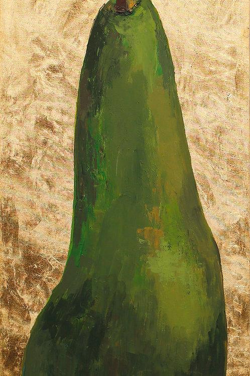 "The Sad Pear (150x50cm /59x20"")"