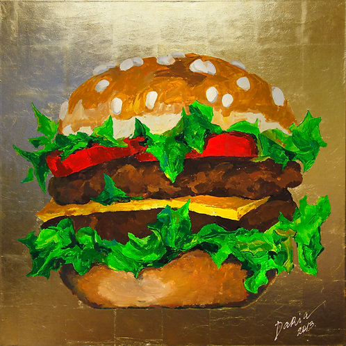 """Gluttony – One of the Seven (100x100cm / 39x39"""")"""