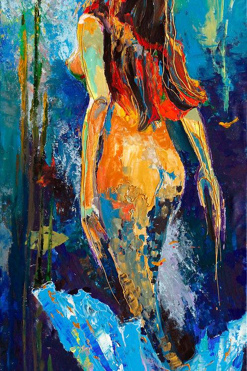 "Little Mermaid (200x100cm/80x40"")"