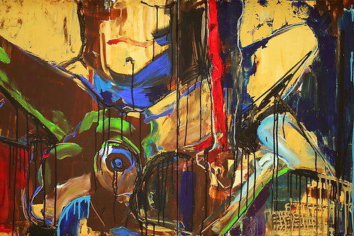"""Power and Beauty (diptych) (80x160/31x63"""")"""