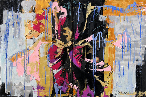 "Iris (diptych) (122x183cm / 48x72"")"