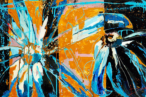 """BETWEEN GREEN AND BLUE ( 60x120cm  / 24x47"""")"""