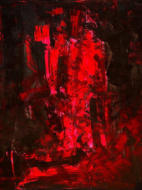 """Talk with a Shadow (120x100cm/47,2x39,4"""")"""
