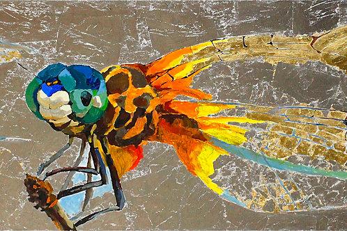 "Silver Dragonfly (Author's copy) (50x150cm / 19.7x59"")"