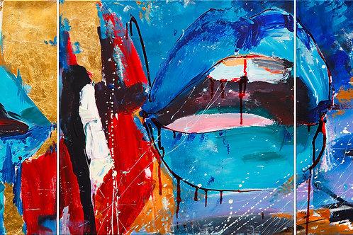 """Tenderness (triptych) (50x150cm/19,7x59"""")"""