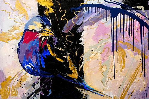 """Blue bird (102x152cm / 40x60"""")"""