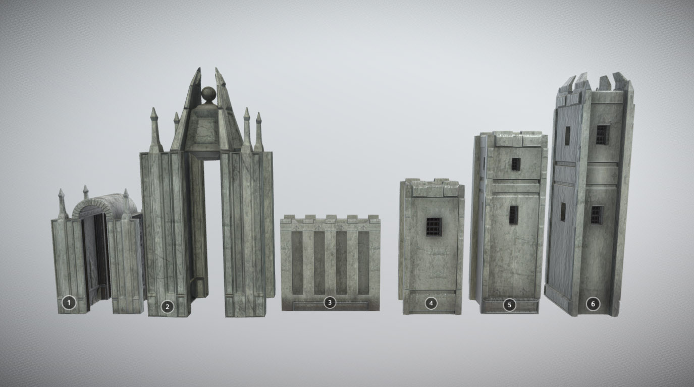 Medieval castle kit (MUD)