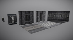 Medieval castle modular kits (interior)