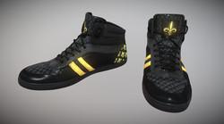 Black & Gold Sneakers (Fleur-De-Lis) Style