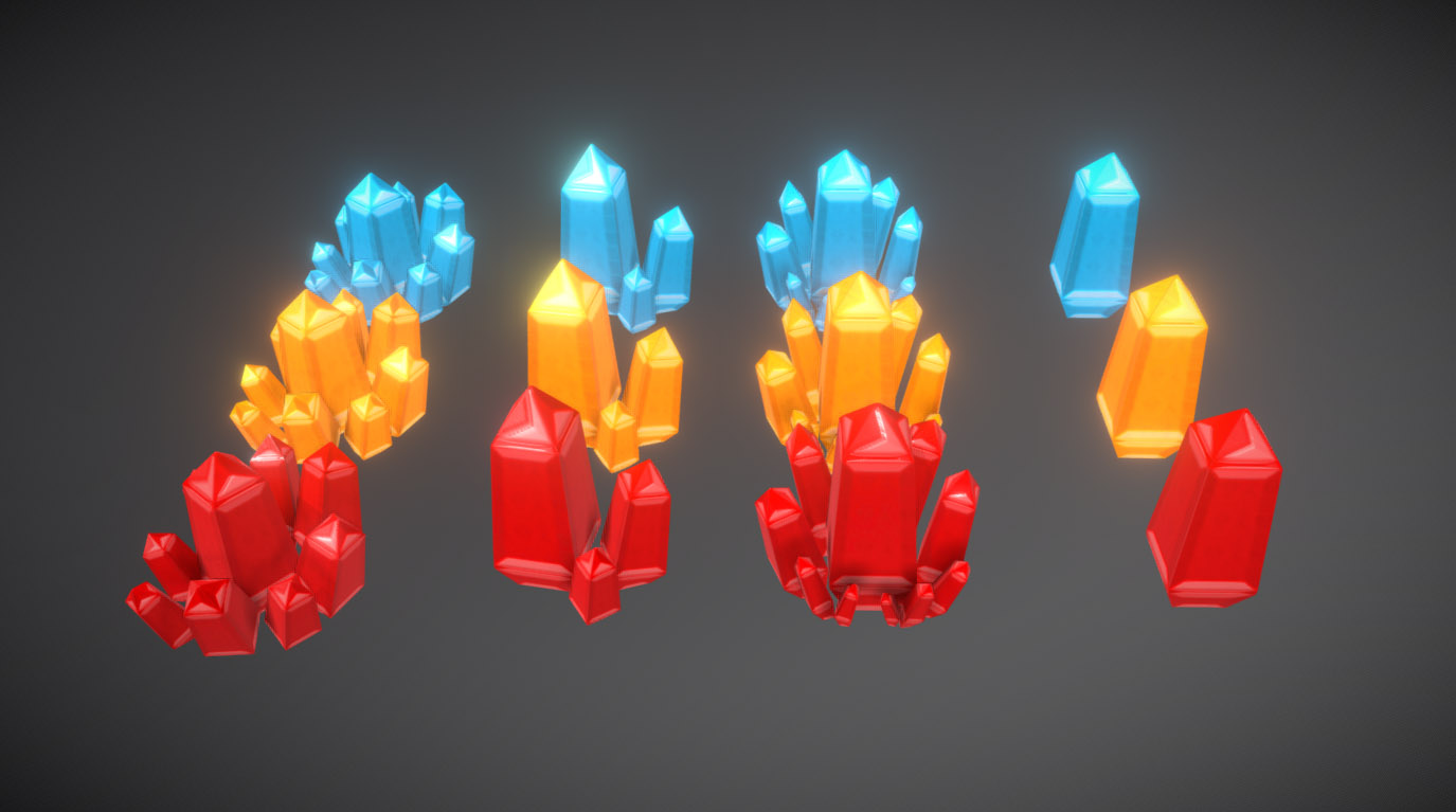 Low Poly Crystal (pack)