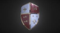 Medieval Royal Crusader Knight Armor Shield