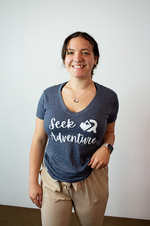 Seek Adventure Women's V-Neck T-Shirt
