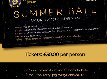BRFC Summer Ball - Tickets on Sale NOW!