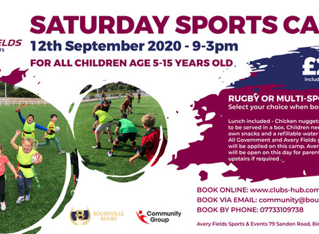 September Rugby and Multi-sports Camp