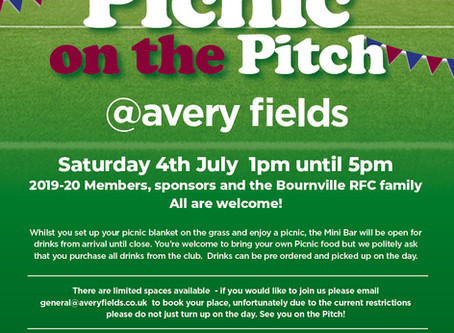 Picnic on the Pitch - 4th July 2020